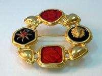 Heraldic Emperor Horse Lion Sun enamel pin brooch Robert Rose