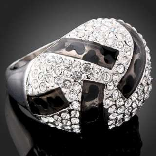 White Gold GP ARINNA Swarovski Crystal Fashion Ring