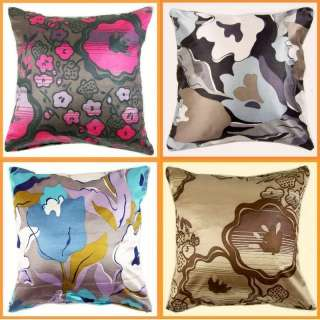 Home Decor Colorful Lily Floral Throw Pillow Case Cushion Cover Square