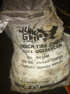Quick Grip By Security Truck Tire Chains #QG2243CAM