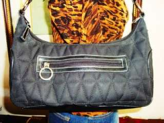FRANCO SARTO QUILTED BLACK HOBO BAG PURSE