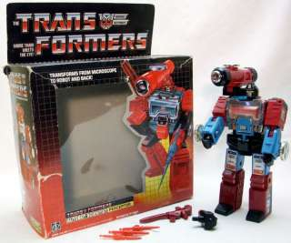 1985 Autobot Perceptor Transformer G1 Complete With Box