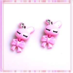 Particularly Pink Loose Coupling Rabbit Rhinestone Design