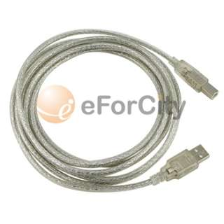 usb cable type a to b 10 ft 3 m translucent quantity 1 latest usb