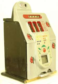 1947 MILLS NOVELTY BLACK CHERRY 10c ANTIQUE SLOT MACHINE!