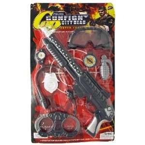 Police Force Shot Gun Play Kit Googles Compasses Grenade