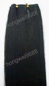 20 #1 100g jet black machine weaving weft hair 100% real human hair