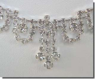 Bridal NECKLACE EARRINGS SET COSTUME Prom JEWELRY N1X38