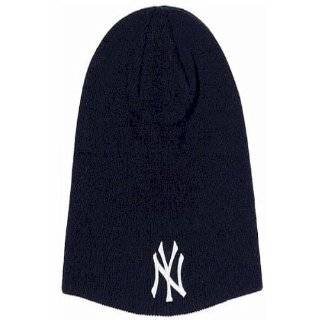 Beanie White Ny New York Yankees Winter Ski Kids Woolly Hat