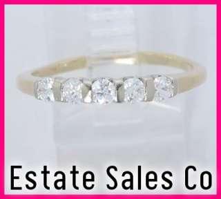 14ky Gold Round Diamond Anniversary Band Ring .50ct