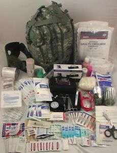 MILITARY ARMY ACU MEDICAL KIT TACTICAL TRAUMA BACKPACK 230pc Medic