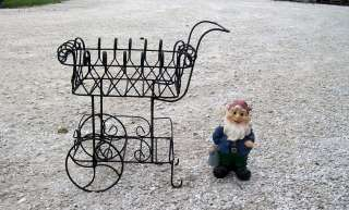 Wrought Iron Cart Metal Flower Carts Garden Flower Container