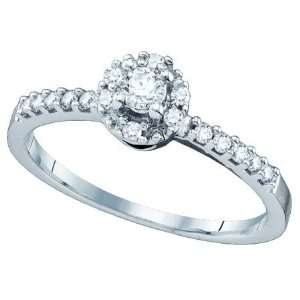 Beautiful White Gold Diamond Engagement / Promise Ring