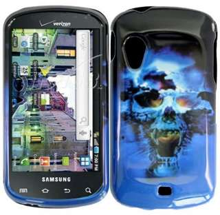 BLUE SKULL DESIGN HARD PLASTIC ACCESSORY CASE COVER SAMSUNG