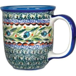 Polish Pottery 12oz Mug   Unique Design # A122: Patio