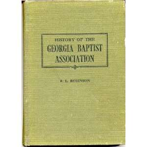 of the Georgia Baptist Association, Robert Lee Robinson Books