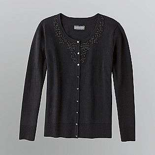 Womens Beaded Cardigan Sweater  Covington Clothing Womens Sweaters
