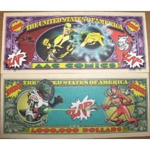 Set of 10 Bills Super Hero Million Dollar Bill Toys & Games