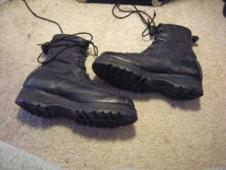 MILITARY WORK COMBAT BLACK LEATHER TACTICAL JUMP BOOTS 6.5 W