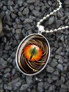 Dragon Cat Eye Fantasy Eyeball Pendant Necklace 511 SSO
