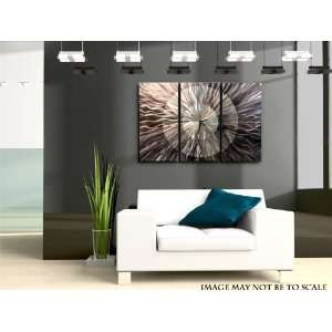 Obsidian Burst Abstract Metal Wall Art Home Decor Clock