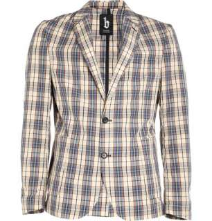 Clothing  Blazers  Single breasted  Madras Check