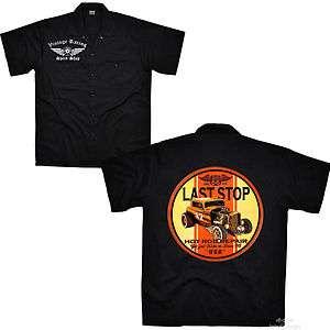 Rod Rockabilly Werkstatt Car Oldtimer Worker Shirt Kustom Hemd *1213