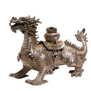Dragon Statue Tibetan Silver Dragon Protector of Buddhism