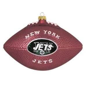 New York Jets NFL Glass Football Ornament (5)