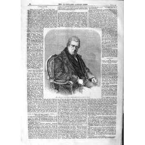 1859 ANTIQUE PORTRAIT DAVID COX MAN OLD PRINT Home