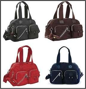 Kipling Defea HandBag Shoulder Strap HB3170 Black / Espresso / Red