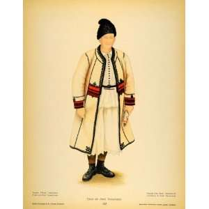 1937 Costume Coat Romanian Man Arad Transylvania Print