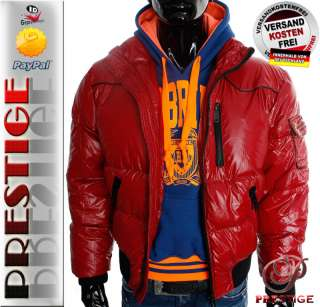 CIPO BAXX RBC 5205 Star Redbridge Herren Lack Winter Daunen Jacke NEU