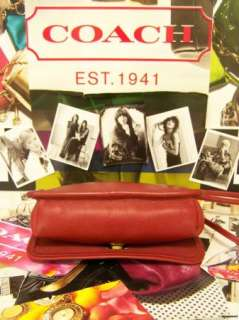 CLASSIC COACH Red Small Carnival Leather Bag Purse Handbag Shoulder