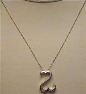 JANE SEYMOUR Sterling Silver OPEN HEART Pendant 19 Chain Necklace Kay