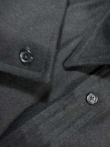 298 John Varvatos Black Heavy Wool Cashmere Slim Fit Shirt S 15.5x34