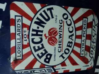 Beech Nut Tobacco Porcelain Advertising Sign