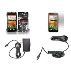 HTC EVO 4G LTE (Sprint) Premium Combo Pack   Silver Butterfly and Lily