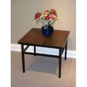 4D Concepts End Table with Slate Top Home & Kitchen