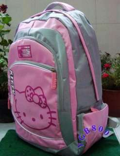 Lovely Big Pink Hello Kitty Backpack Travel Bag Luggage School bag