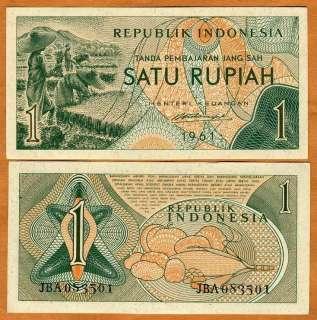 Indonesia, 1 Rupiah, 1961, P 78, UNC