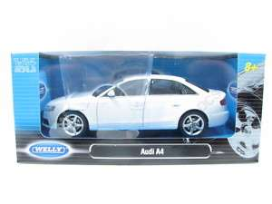 Welly AUDI A4 White Diecast Car 1/24 New in Box