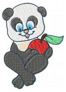 CUTE PANDA BEAR MACHINE EMBROIDERY DESIGNS CD SET OF 10