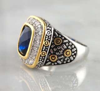 CZ Brass Square Ring Rhodium Finish Silver Gold Tone Designer Jewelry