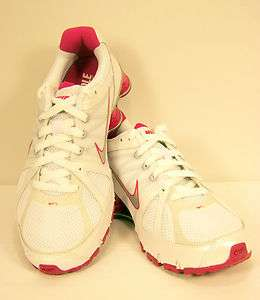 NIKE Shox Agent + Flywire Fitsole White/Pink Womens Sneakers Shoes New
