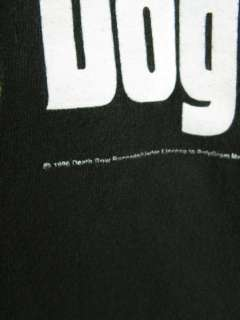 Vtg 90s SNOOP DOGGY DOGG THA DOGGFATHER T SHIRT Death Row Records 1996