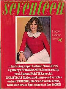 Dec 1975 Vtg Seventeen Magazine Teen Springsteen Xmas