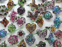 wholesale jewelry lots 10 rhinestone crystal rings HC19