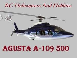RC Agusta A 109 Helicopter RTF 500E Pro V2 Trex Large Fuselage