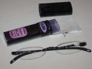Sav Flexi Light Purple Black Cheaters Readers Eye Glasses 1.00 New